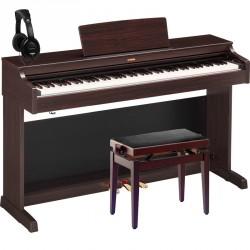 YAMAHA -PACK- YDP163R PIANO DIGITAL ARIUS PALISANDRO + BANQUETA Y AURICULARES.