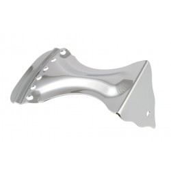 ALL PARTS TP0498010 BENT TAILPIECE FOR RESONATOR STYLE GUITARS, CHROME, 2-1/8 STRING SPACING, 4-5/8