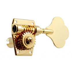 ALL PARTS TK7946002 IMPORT BASS KEYS, 4-IN-LINE, GOLD, OPEN GEAR, WITH HARDWARE, 20:1