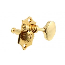 GROVER TK7918002 STA-TITE V97-18NA SCALLOPED BUTTONS 3 X 3 TUNING KEYS GOLD 18:1