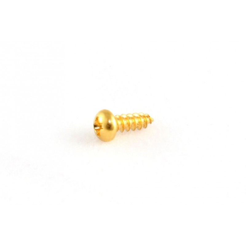 "#2 x 3//8/"" 8 Phillips Head NEW Truss Rod Cover Screws GOLD"