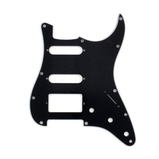 ALL PARTS PG0995033 PICK GUARD 1 HUMBUCKER - 2 SINGLE COILS FOR STRAT BLACK