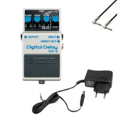 BOSS -PACK- DD3 PEDAL DELAY CON ALIMENTADOR PALMER PW9V Y CABLE 15 CM