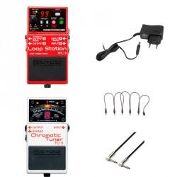 BOSS -PACK- RC3 PEDAL LOOPER + BOSS TU3 AFINADOR + ALIMENTADOR Y CABLES
