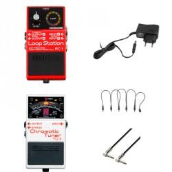 BOSS -PACK- RC1 PEDAL LOOPER + BOSS TU3 AFINADOR + ALIMENTADOR Y CABLES