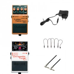 BOSS -PACK- DS2 PEDAL DISTORSION + BOSS TU3 AFINADOR + ALIMENTADOR Y CABLES