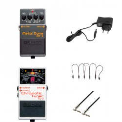 BOSS -PACK- MT2 PEDAL DISTORSION METAL ZONE + BOSS TU3 AFINADOR + ALIMENTADOR Y CABLES