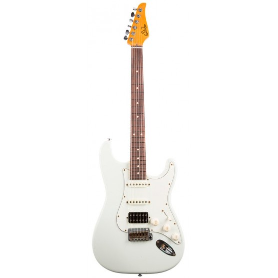 SUHR CLASSIC ANTIQUE HSS RW GUITARRA ELECTRICA OLYMPIC WHITE.
