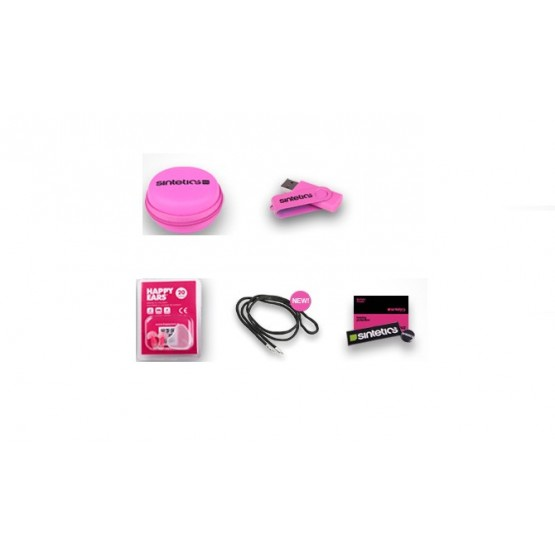 SINTETICS PACK HAPPY EARS ROSA CON USB CON MUSICA TECNO