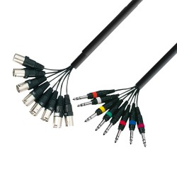 ADAM HALL K3L8MV0500 CABLE MULTICORE 8 X XLR MACHO A 8 X JACK ESTEREO 5 METROS