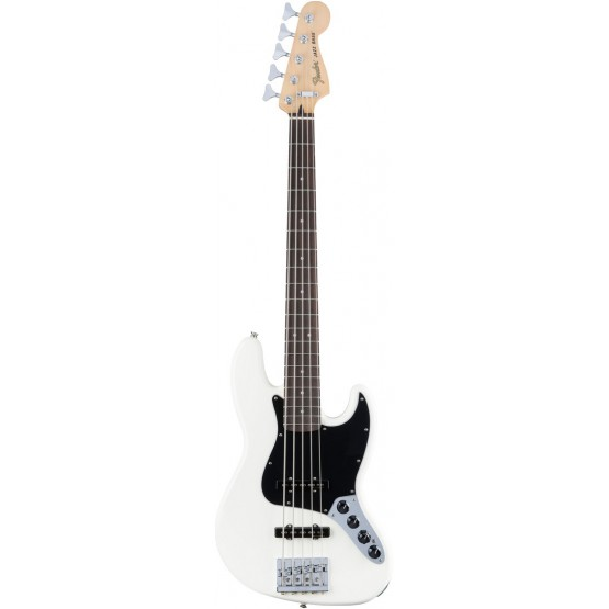 FENDER DELUXE ACTIVE JAZZ BASS V PF BAJO ELECTRICO 5 CUERDAS OLYMPIC WHITE