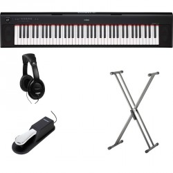 YAMAHA -PACK- NP32 PIANO DIGITAL PIAGGERO + SOPORTE TIJERA + PEDAL SUSTAIN Y AURICULARES