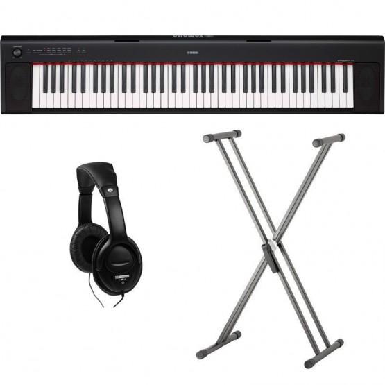 YAMAHA -PACK- NP32 PIANO DIGITAL PIAGGERO + SOPORTE TIJERA Y AURICULARES