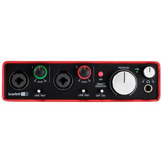 FOCUSRITE SCARLETT 2i2 2ND GENERATION INTERFAZ DE AUDIO USB