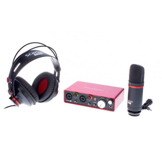 FOCUSRITE SCARLETT 2i2 STUDIO 2ND GENERATION PACK INTERFAZ DE AUDIO USB