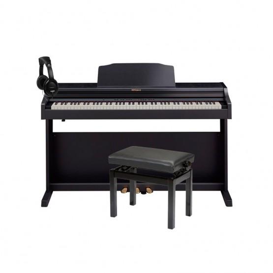 ROLAND -PACK- RP501R CB PIANO DIGITAL + BANQUETA Y AURICULARES