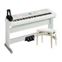 YAMAHA -PACK- DGX660 W PIANO DIGITAL + PEDALERA + BANQUETA Y AURICULARES