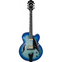 IBANEZ AFC155 JBB GUITARRA ELECTRICA HOLLOW BODY JET BLUE BURST