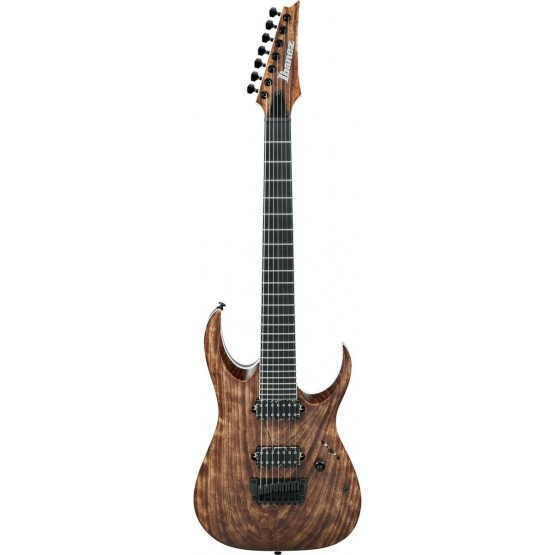 IBANEZ RGAIX7U ABS IRON LABEL GUITARRA ELECTRICA 7 CUERDAS ANTIQUE BROWN STAINED. DEMO.