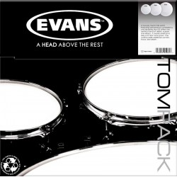 EVANS ETPG12CLRF CLEAR FUSION PACK DE PARCHES PARA TOM.