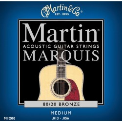 MARTIN M1200 MARQUIS JUEGO DE CUERDAS GUITARRA ACUSTICA 13 56 BRONCE