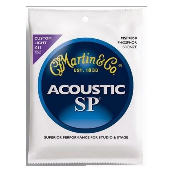 MARTIN SP4050 JUEGO DE CUERDAS GUITARRA ACUSTICA 11 52 FOSFORO BRONCE.