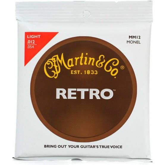 MARTIN MM12 RETRO MONEL JUEGO CUERDAS GUITARRA ACUSTICA 12 54 LIGHT