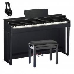 YAMAHA -PACK- CLP625 B PIANO DIGITAL NEGRO + BANQUETA Y AURICULARES