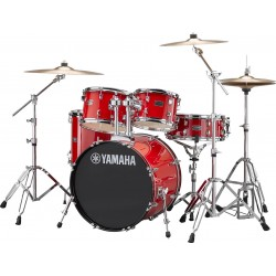 YAMAHA RDP0F5 RD CPSET RYDEEN BATERIA ACUSTICA CON HERRAJES Y PLATOS HOT RED