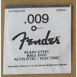 FENDER 009 PLAIN CUERDA PLANA GUITARRA ELECTRICA.