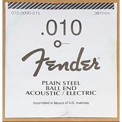 FENDER 010 CUERDA PLANA GUITARRA ELECTRICA.