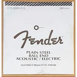 FENDER 016 PLAIN CUERDA PLANA GUITARRA ELECTRICA.