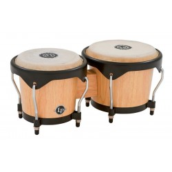 LATIN PERCUSSION LP601NY AW BONGOS DE MADERA NATURAL