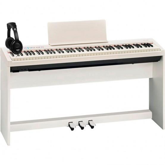 ROLAND -PACK- FP30WH PIANO DIGITAL + SOPORTE + PEDALERA Y AURICULARES