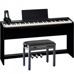 ROLAND -PACK- FP30BK PIANO DIGITAL + SOPORTE + PEDALERA + BANQUETA Y AURICULARES
