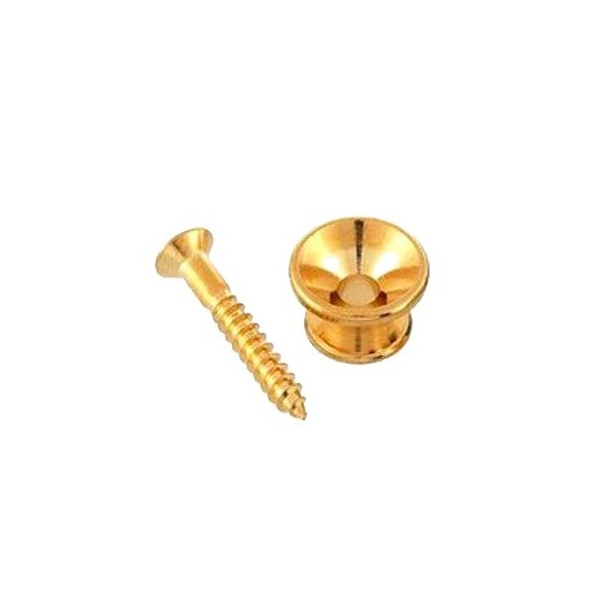 ALL PARTS AP0670002 STRAP BUTTONS WITH SCREWS GOLD. UNIDAD