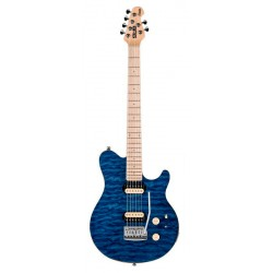 STERLING AX3-TBL-M AXIS GUITARRA ELECTRICA TRANSLUCENT BLUE. DEMO.