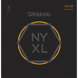 D'ADDARIO NYXL1046-3P SET DE 3 JUEGOS CUERDAS GUITARRA ELECTRICA
