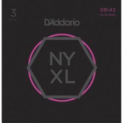 D'ADDARIO NYXL0942-3P SET DE 3 JUEGOS CUERDAS GUITARRA ELECTRICA