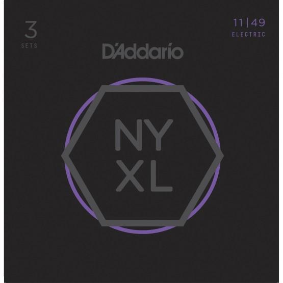 D'ADDARIO NYXL1149-3P SET 3 JUEGOS CUERDAS GUITARRA ELECTRICA 011-049