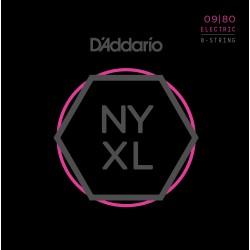 D'ADDARIO NYXL0980 JUEGO 8 CUERDAS GUITARRA ELECTRICA