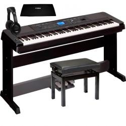 YAMAHA -PACK- DGX660 B PIANO DIGITAL + PEDALERA + BANQUETA + CUBRETECLADO Y AURICULARES