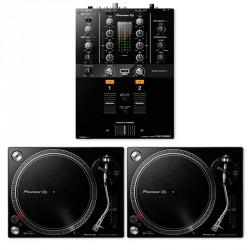 PIONEER DJ PACK 2 X PLX500K PLATOS GIRATORIOS Y MESA DJM250MK2