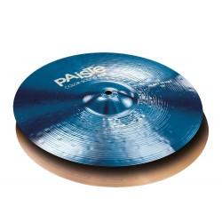 PAISTE 900 COLOR SOUND BLUE HEAVY HIHAT 14 PLATOS BATERIA