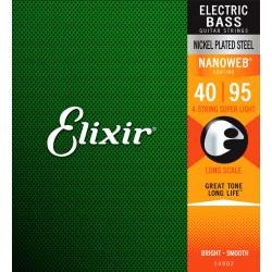 ELIXIR 14002 NANOWEB SUPER LIGHT JUEGO CUERDAS BAJO 40-95