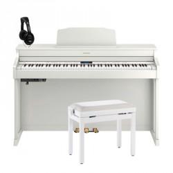 ROLAND -PACK- HP603A WH PIANO DIGITAL 88 TECLAS CONTRAPESADAS + BANQUETA Y AURICULARES