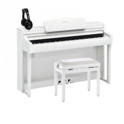 YAMAHA -PACK- CSP170 WH PIANO DIGITAL BLANCO + BANQUETA Y AURICULARES