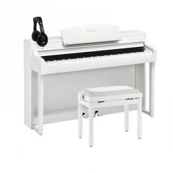 YAMAHA -PACK- CSP150 WH PIANO DIGITAL BLANCO + BANQUETA Y AURICULARES