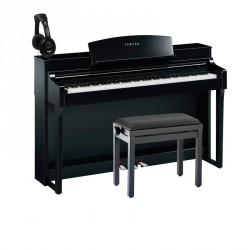 YAMAHA -PACK- CSP150 PE PIANO DIGITAL NEGRO PULIDO + BANQUETA Y AURICULARES