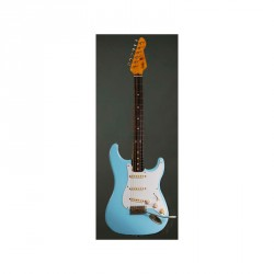 LSL SATICOY AL DSB GUITARRA ELECTRICA DESOTO BLUE LIGHT AGED